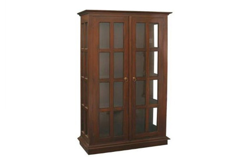 BANNY  (DC200GL) DISPLAY CABINET  (1800H x 1000W) - CHOCOLATE OR MAHOGANY