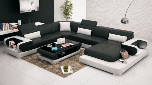 GENISTRA LEATHERETTE  CHAISE LOUNGE ( MODEL-G8002) - CHOICE OF LEATHER AND ASSORTED COLOURS AVAILABLE (COFFEE TABLE EXCLUDED)