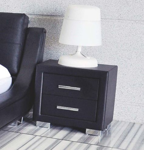 ELA (W-05) 2 DRAWERS BEDSIDE - BLACK OR WHITE