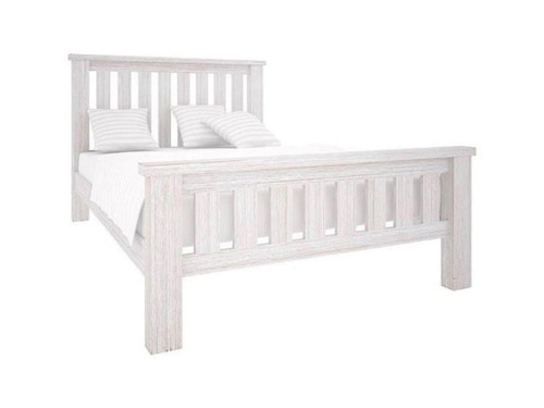 QUEEN DENALI (VAL-013) BED (MODEL 1-12-1-19-11-1) - BRUSHED  WHITE
