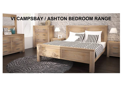 ASHTON (VAN-012) KING 3 PIECE BEDSIDE BEDROOM SUITE - LIGHT OAK / SMOKE BLACKBUTT