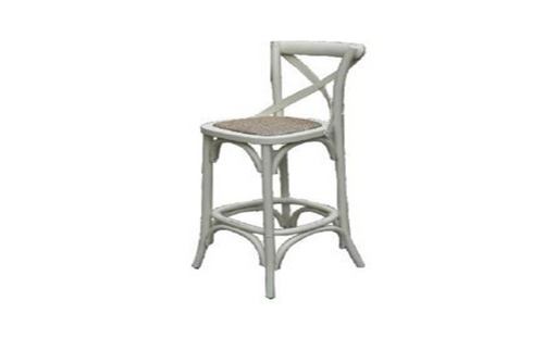 BARISTA (VBR-013-WH) BAR CHAIR - SEAT: 760(H) -  WHITE
