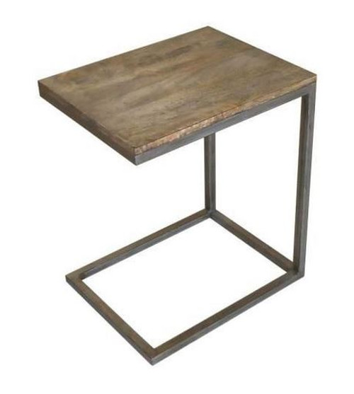 BYRON (WOBN-005) 'C' SIDE TABLE  - DISTRESSED NATURAL