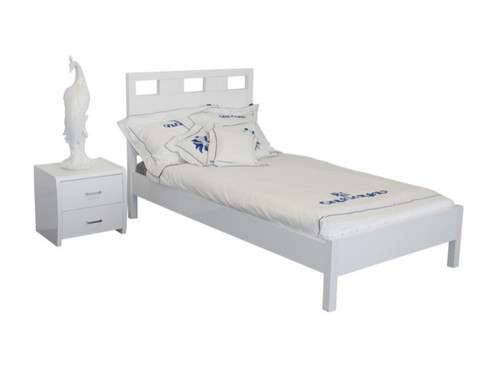 DOUBLE  CRONULLA  BED  (CRO-DB-B) - HIGH GLOSS WHITE OR BLACK
