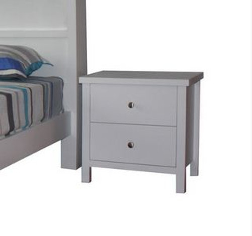 FLORENTINA (11-9-4-19) - 2 DRAWERS BEDSIDE - WHITE