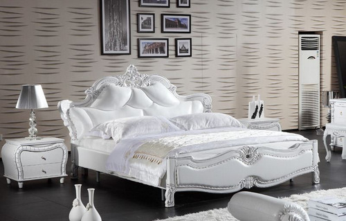 ELIZABETH KING  LEATHER 3 PIECE BEDSIDE BEDROOM SUITE