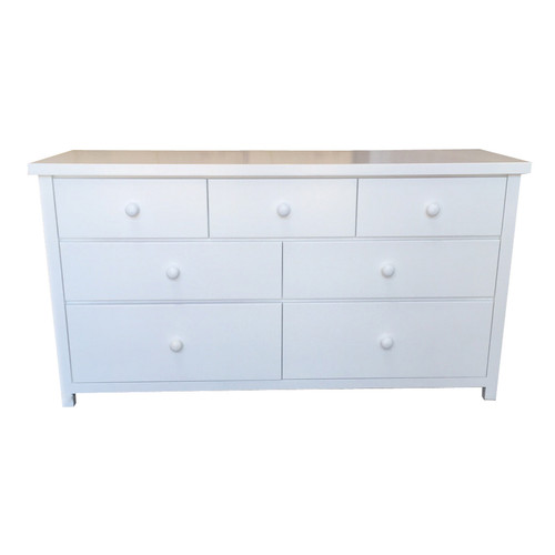 FEDERATION (AUSSIE MADE) LOWBOY WITH 7 DRAWERS - 790(H) x 1500(W) - ASSORTED PAINTED COLOUR
