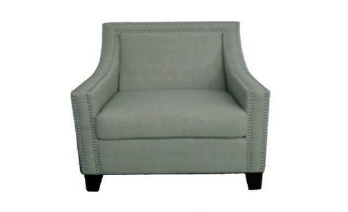 CAROL (V-3598-BG) LINEN ARM CHAIR - BIEGE