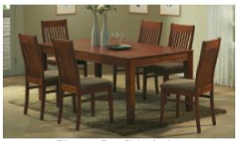 EDMONTON 7 PIECE  DINING SETTING - 1800(L) X 1000(W) - ANTIQUE OAK/ STONE