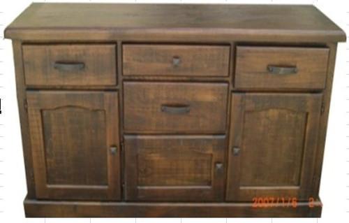CALISTA (COBBF)  2 DOORS 5 DRAWERS BUFFET -  845(H) X 1640(W) -ROUGH SAWED