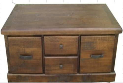 CALISTA (COBCT) 4 DRAWER COFFEE TABLE -  1300(W) X 650(D) - ROUGH SAWED