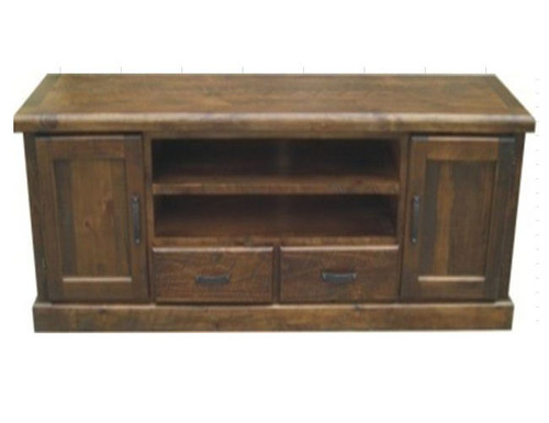 COBAR (COBTV-7) 2 DOOR 2 DRAWER TV ENTERTAINMENT UNIT - 660(H) X 2040(W)- ROUGH SAWED