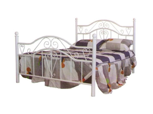 DOUBLE MONTANA METAL BED - BLACK OR WHITE