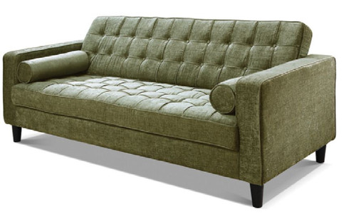 RITZ 3 SEATER FABRIC UPHOLSTERED LOUNGE - ASSORTED COLOURS