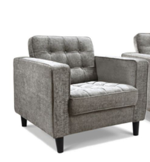 RITZ SINGLE SEATER FABRIC UPHOLSTERED ARM CHAIR  - ASSORTED COLOURS
