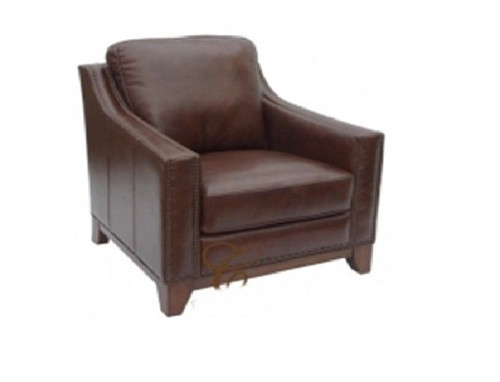 BOSTON SINGLE SEATER - 100% COW LEATHER  - CHOCOLATE