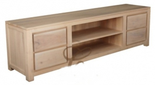 ARMSTERDAM (SB 004 TA 200)  4 DRAWER ENTERTAINMENT UNIT - 560(H) x 2000(W) - WASHED