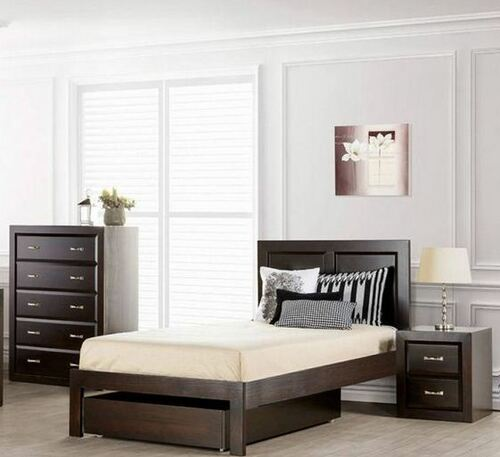 MARBELLA SINGLE OR KING SINGLE 3 PIECE  BEDROOM SUITE  (MODEL OR-150-1)  - CHOCOLATE