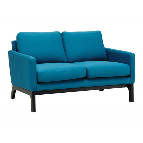 COVE 2 SEATER  FABRIC  SOFA -  TEAL / EBONY