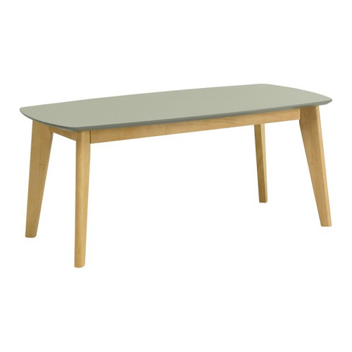 ARTHUR HIGH  COFFEE TABLE  -    1050(W) X  520(D) - GREY / NATURAL