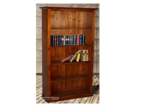 COLONIAL 6X3 BOOKCASE WITH T&G BACKING - 1800(H) X 900(W)