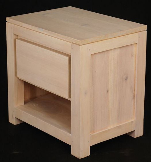 AMSTERDAM 1 DRAWER BEDSIDE (BS 001 TA)  - WASHED
