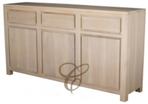 AMSTERDAM 3 DOOR 3 DRAWER BUFFET  (SB 303 TA) -900(H) X 1560(W) -  WASHED