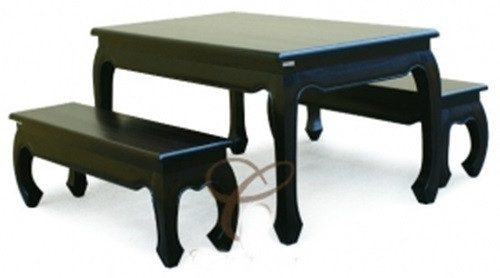CHINESE ( DT 180 95 OL) DINING  SETTING -1800(L) x 950(W) - CHOCOLATE