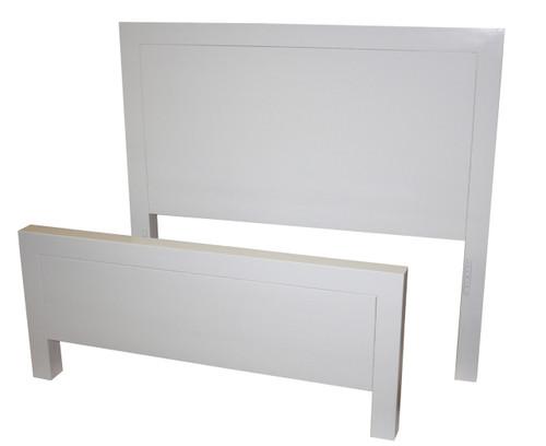 DOUBLE RETRO BED - WHITE, ANTIQUE WHITE, WHITEWASH & BRUSHED COLOUR OPTIONS