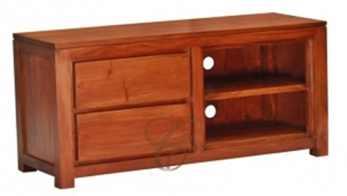 AMSTERDAM ( SB 002 TA )  2 DRAWER ENTERTAINMENT UNIT -   560(H) x 1200(W)  - MAHOGANY  OR LIGHT PECAN