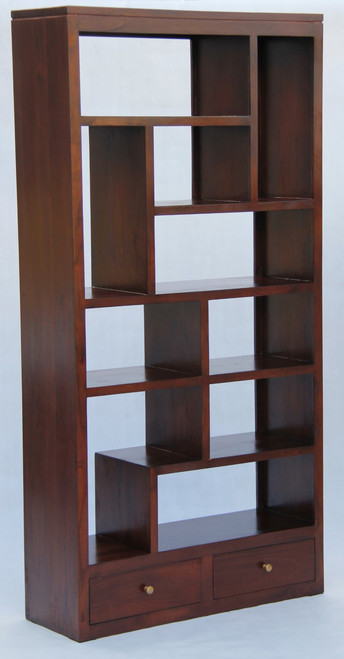 AMSTERDAM  10 CUBE SHELF WITH 2 DRAWER  (CU 012 TA)  - 2000(H) X 1000(W) - ASSORTED COLOURS