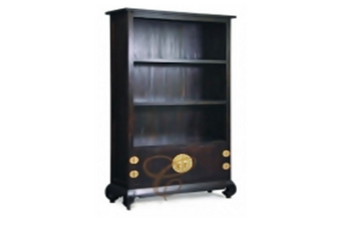 CHINESE  2 DRAWER  BOOKCASE  (BC 200 CSN) - 1800(H) x 350(W) - MAHOGANY OR CHOCOLATE