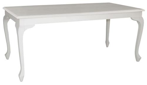 QUEEN ANN DINING TABLE (DT 180 90 QA ) - 1800(L) X 900(W) - WHITE