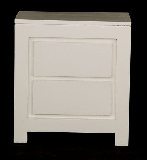 AMSTERDAM 2 DRAWER BEDSIDE (BS 002 TA)  - WHITE