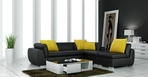 BELSTAN  (F3014)  CORNER LOUNGE SUITE EXCLUDING  COFFEE TABLE - CHOICE OF LEATHER AND ASSORTED COLOURS AVAILABLE