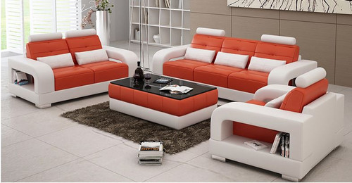 SENCHEL  3S + 2S + 1S  LOUNGE  SUITE  (MODEL - L6008D) - CHOICE OF LEATHER AND ASSORTED COLOURS AVAILABLE