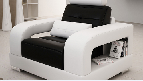 SENCHEL SINGLE SEATER SOFA CHAIR   (MODEL - L6008D) - CHOICE OF LEATHER AND ASSORTED COLOURS AVAILABLE