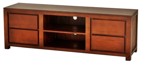 AMSTERDAM   4 DRAWER ENTERTAINMENT UNIT ( SB  004 TA 200) - 560(H) X 2000(W)- MAHOGANY