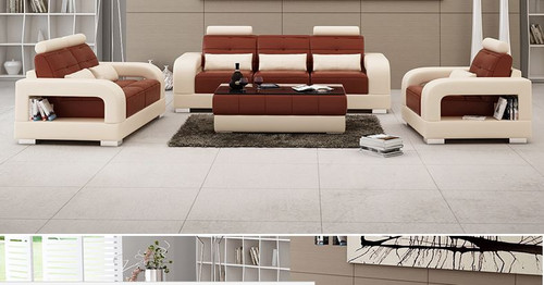 SENCHEL  3S + 2S LOUNGE  SUITE  (MODEL - L6008D) - CHOICE OF LEATHER AND ASSORTED COLOURS AVAILABLE