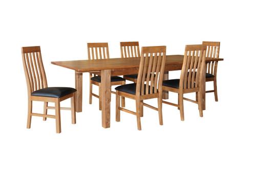 ECCO EXTENDABLE DINING TABLE - 1800 - 2400(L)  - LIGHT OAK