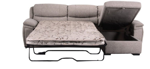 BLAZE 2 SEATER FABRIC SOFABED WITH RHF CHAISE (MODEL - V-9520) - JUTE