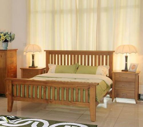 DAKOTA DOUBLE OR QUEEN  3 PIECE  BEDSIDE BEDROOM SUITE  ( MODEL - 4-5-22-15-14-16-15-18-19) - CHESTNUT OR WALNUT