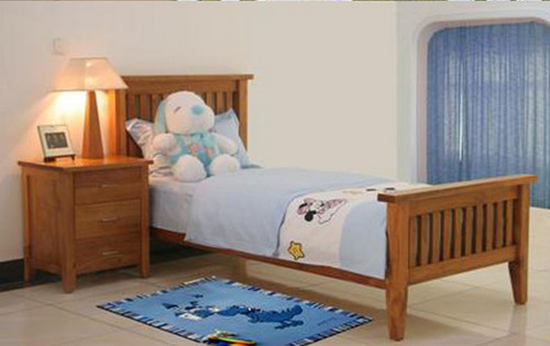 DAKOTA SINGLE  3 PIECE   BEDROOM SUITE  WITH 6 DRAWER TALLBOY ( MODEL - 4-5-22-15-14-16-15-18-19)  - CHESTNUT OR WALNUT