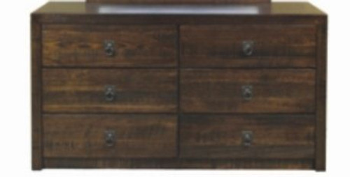 DAKOTA   6  DRAWER DRESSING  TABLE  ( MODEL - 2-21-3-3-15-12-9-3) -750(H) X 1400(W) - RUSTIC