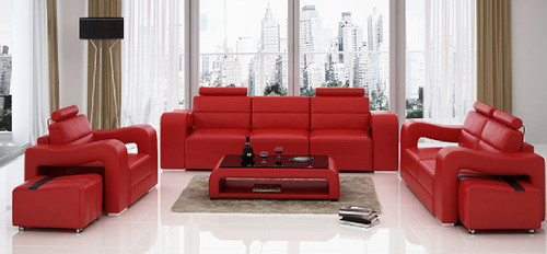 BENSALEM 3 SEATER + 2 SEATER + 1 SEATER LEATHERETTE LOUNGE SUITE (MODEL-F3008D)  - ASSORTED COLOURS