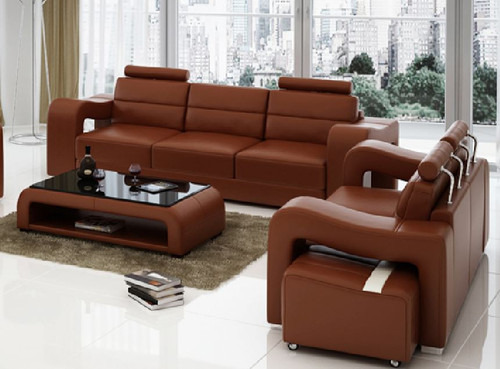 BENSALEM 3S + 2S LEATHERETTE   LOUNGE SUITE (MODEL-F3008D)  - ASSORTED COLOURS