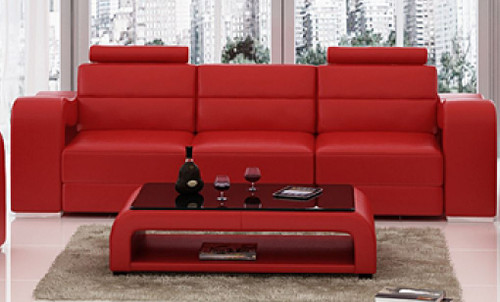 BENSALEM 3 SEATER  LEATHERETTE  SOFA (MODEL-F3008D)  - ASSORTED COLOURS