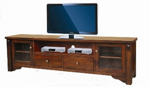 FABULOS  2 DOOR 2 DRAWER LOWLINE ENTERTAINMENT  UNIT - (MODEL-16-9-14-14-1-3-12-5) -   575(H) X 2000(W) - HAZELNUT