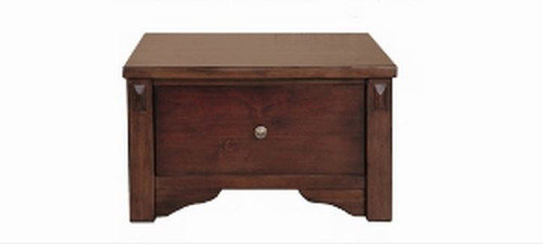 FABULOS 1 DRAWER LAMP TABLE - (MODEL-16-9-14-14-1-3-12-5) -  HAZELNUT