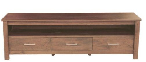 MADISON   3  DRAWERS TV UNIT - (MODEL-WOMD-013-M) - 605(H) X 2000(W) - CHARCOAL.